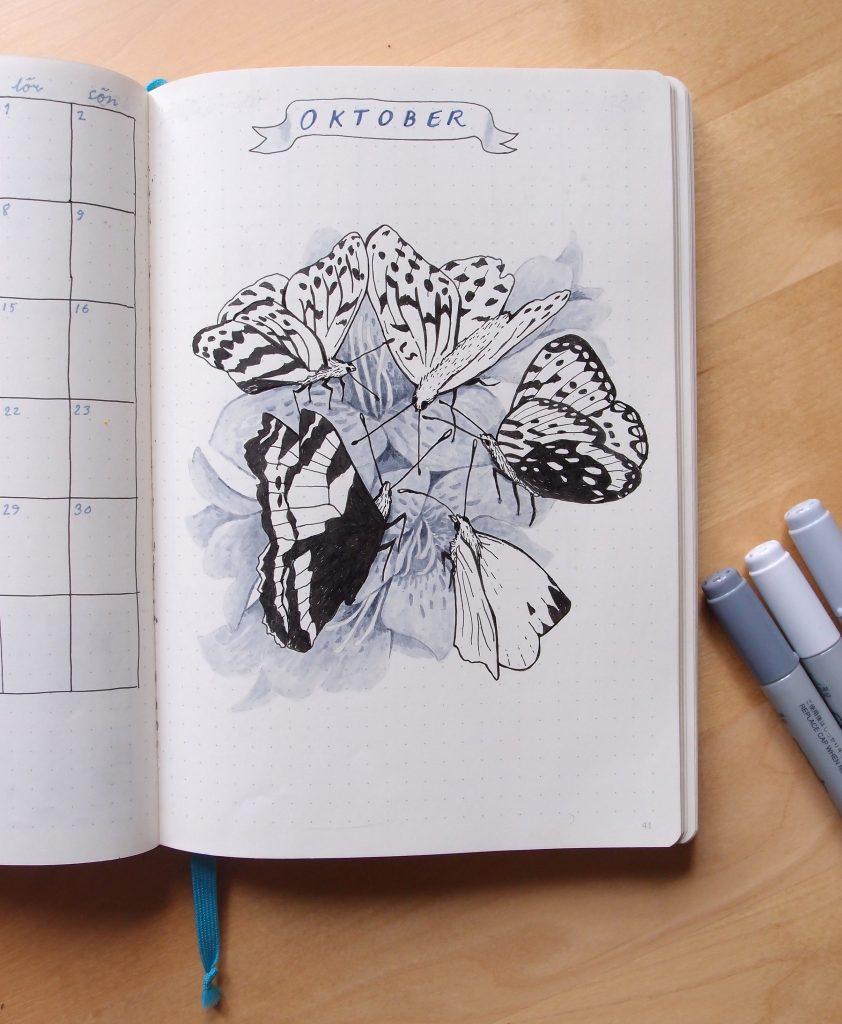 Tecknade fjärilar
