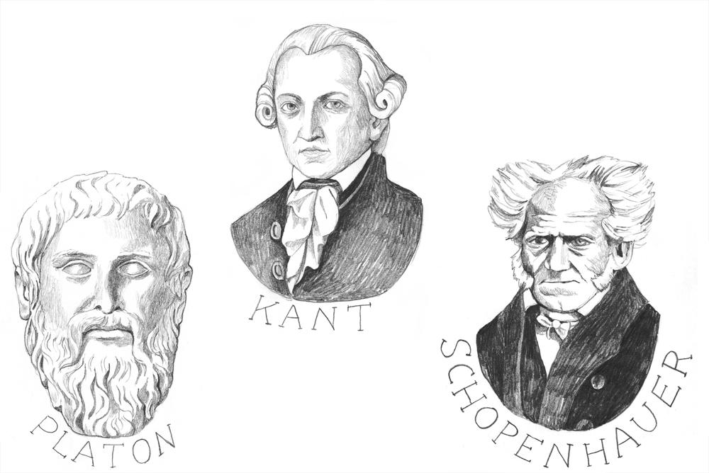 Tre filosofer